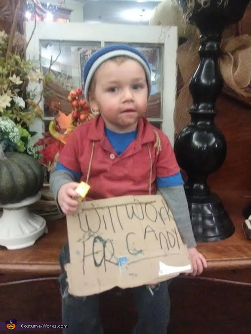 Hobo Will Work for Candy Costume