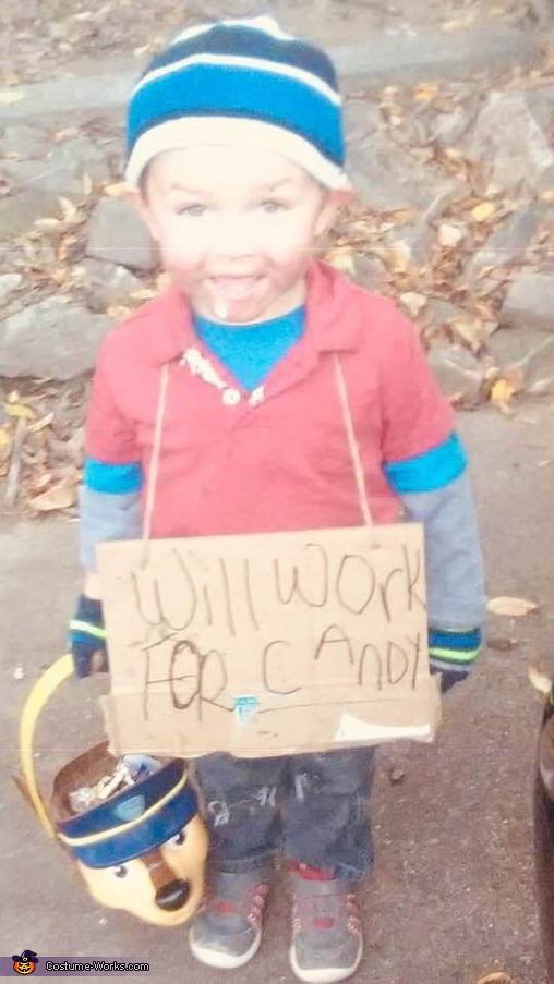 Hobo Will Work for Candy Homemade Costume