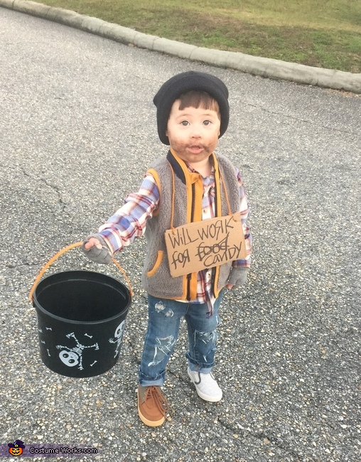 Hobo - Will Work for Candy Costume