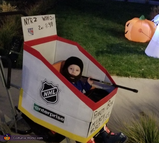 Hockey Player in Penalty Box Costume