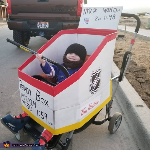 Hockey Player in Penalty Box Homemade Costume