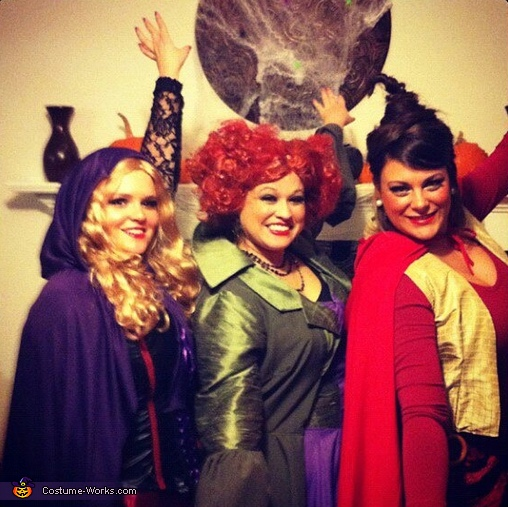 Hocus Pocus Sanderson Sisters - Homemade costumes for groups