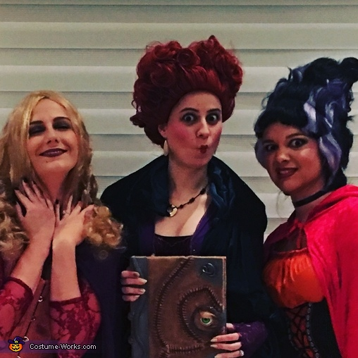 Sanderson Sisters Close up, Hocus Pocus Sanderson Sisters & Co. Costume