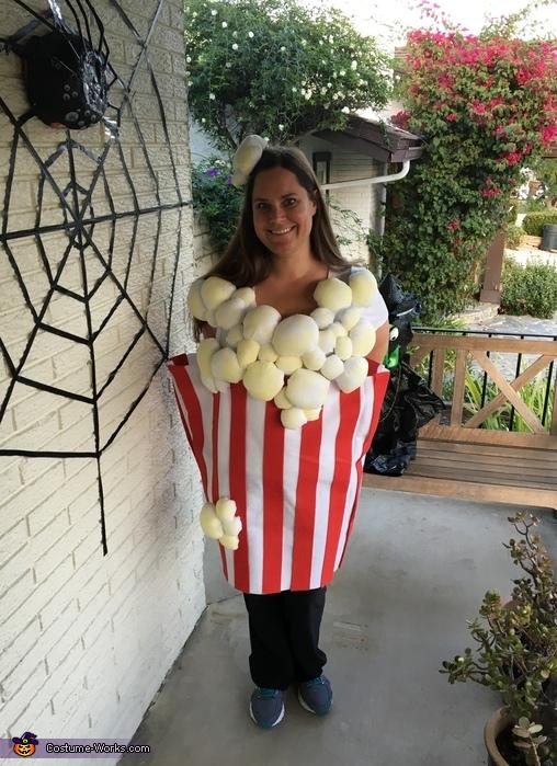Home Made Popcorn Costume