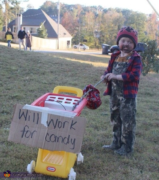 Homeless Man - Homemade costumes for boys
