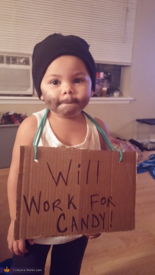 Homeless Man Baby Costume