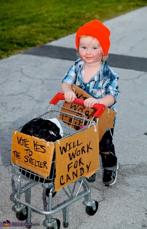 Homeless Toddler in Key West Halloween Costume