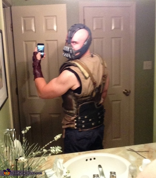 Showing the details, even in the back. , Homemade Bane Costume