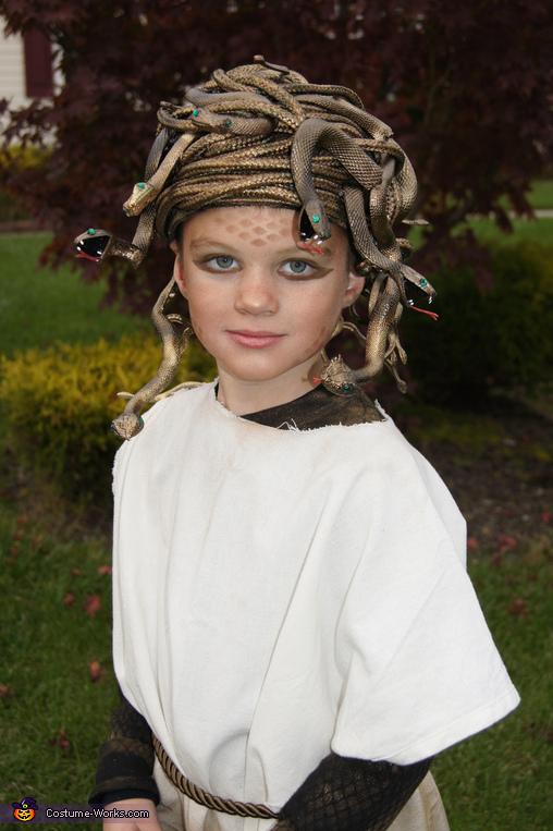 Homemade Medusa Gorgon Costume