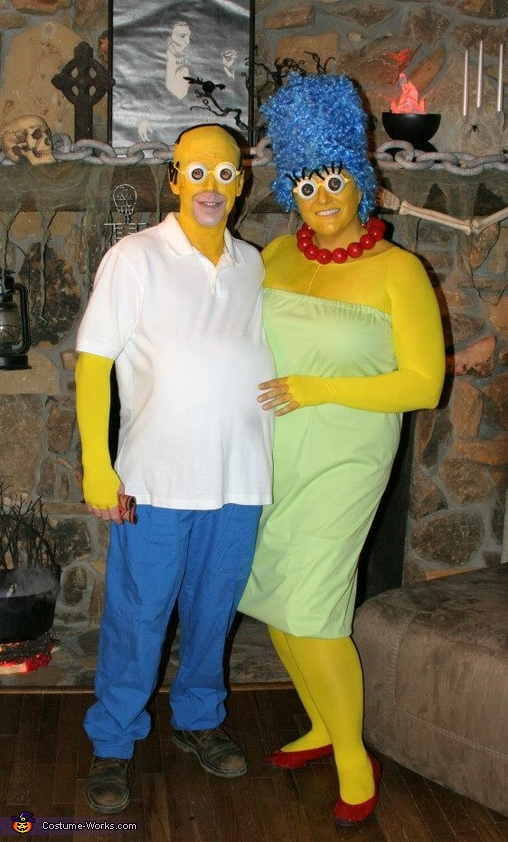 Homer & Marge Simpson Costume