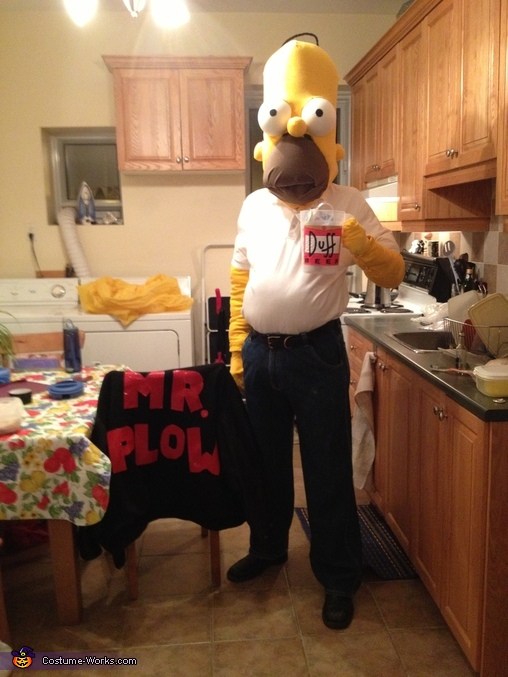 I'm Mr Plow, that's my name. That name again is Mr. Plow!, Homer Simpson Costume