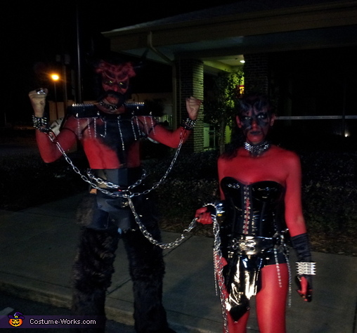 PARTY NIGHT 2, Horny Beast and Demon Dominatrix Costume