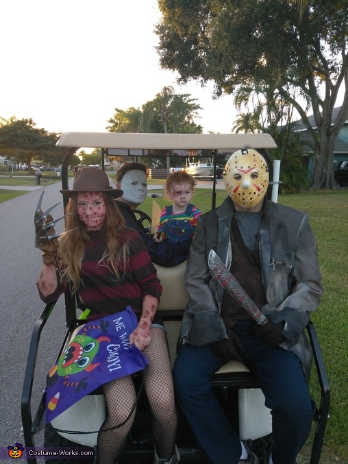 Trick or treating in style, Horror Movie Characters Costume