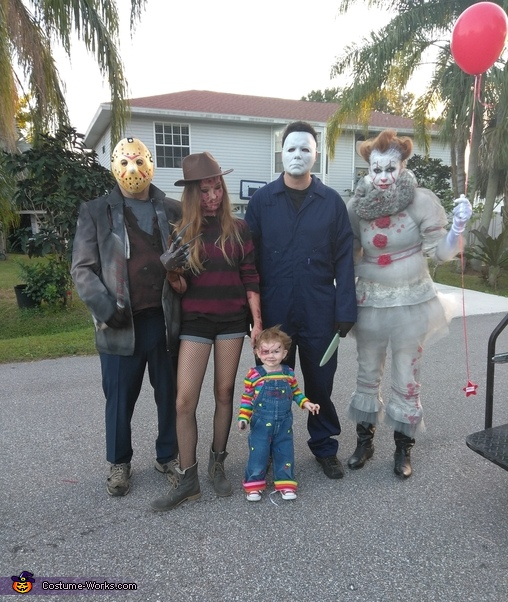 Horror Movie Characters Family Halloween Costume Photo 6 6