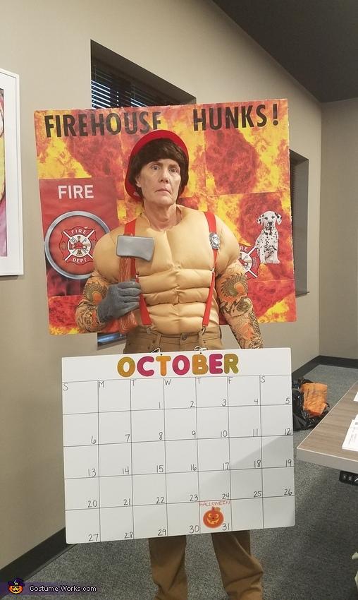 Hot Fireman Calendar Costume