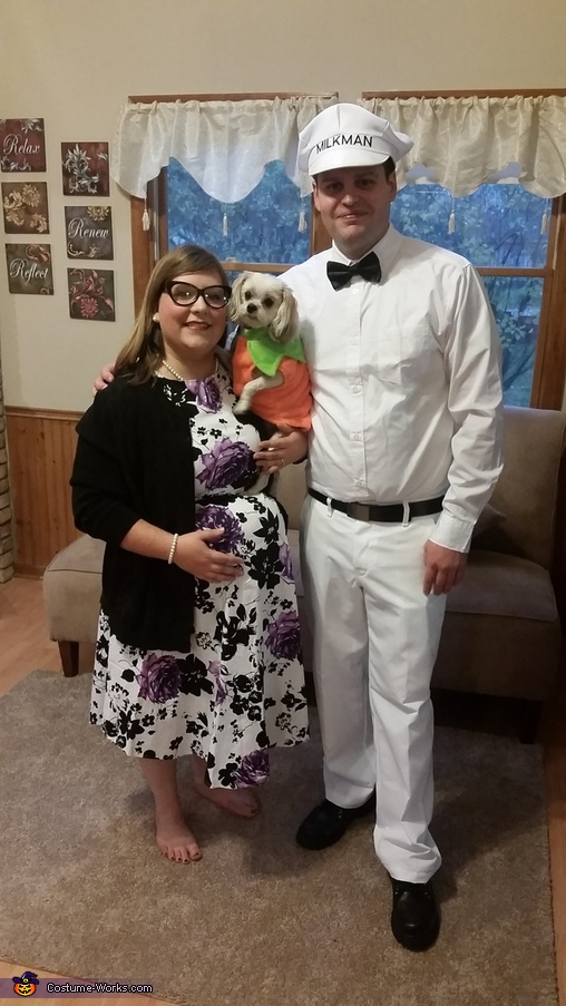 Housewife and the Milkman Homemade Costume