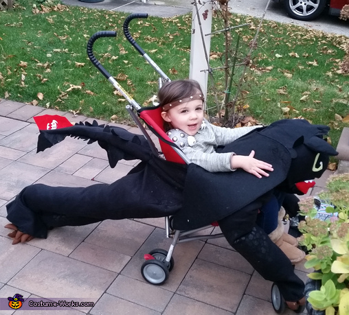 HTTYD Astrid riding Toothless, How to Train Your Dragon Family Costume