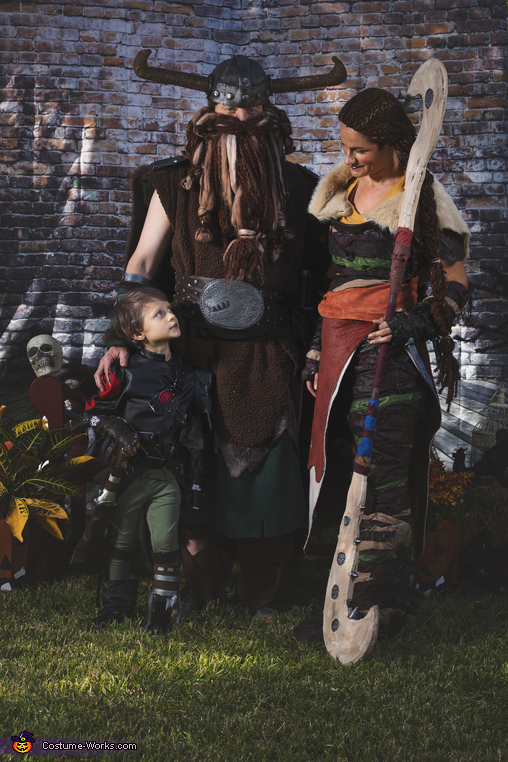 Hiccup, Stoick and Valka, How To Train Your Dragon Family Costume