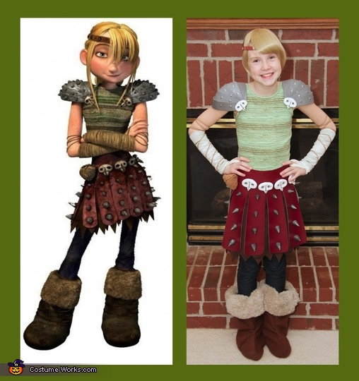 Astrid from How to Train Your Dragon, How to Train Your Dragon: Hiccup, Astrid, and Toothless Group Costume