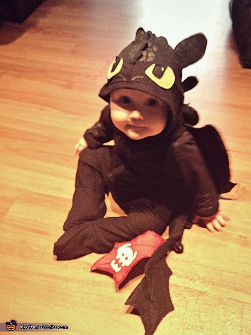 """How to Train Your Dragon"" Toothless Baby Costume"