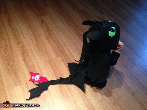 How to Train Your Dragon Toothless Baby Homemade Costume