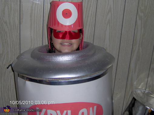 Up close, Spray Paint Can Costume