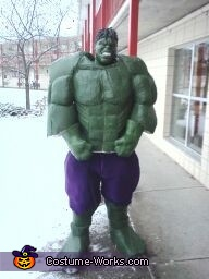 Homemade Hulk Costume