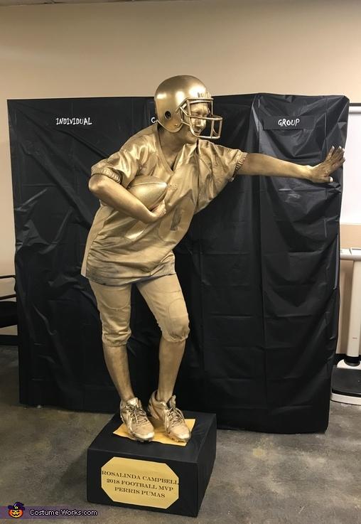 Human Football Trophy Costume