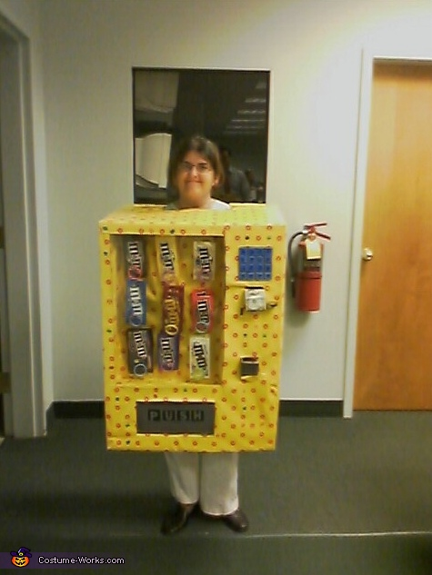 Human M&M Candy Vending Machine Costume