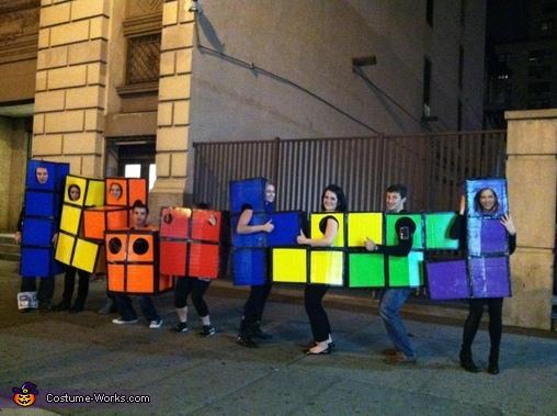 Tetris Group Costume