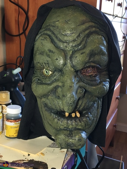 Finishing the witch, Hunchback Witch and Pet Spider Costume