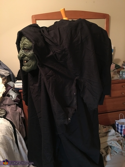 The hunchback witch, Hunchback Witch and Pet Spider Costume