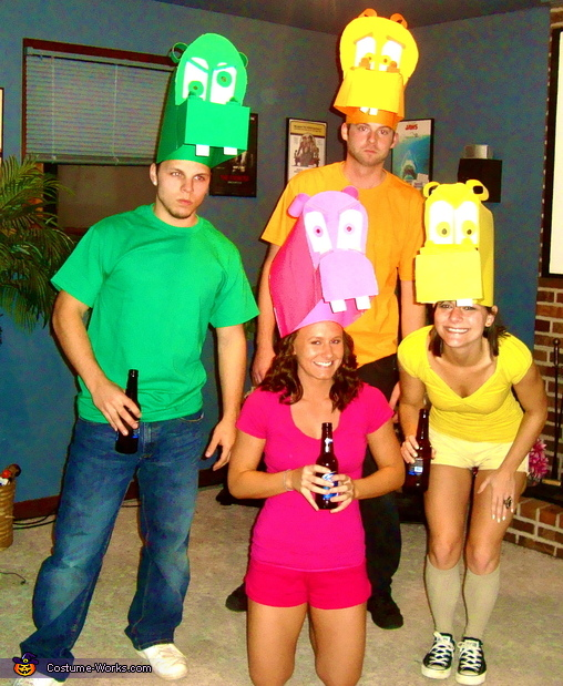 Hungry Hungry Hippos - Homemade costumes for groups