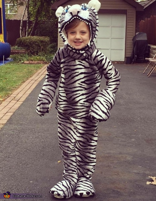 Hungry White Tiger Costume