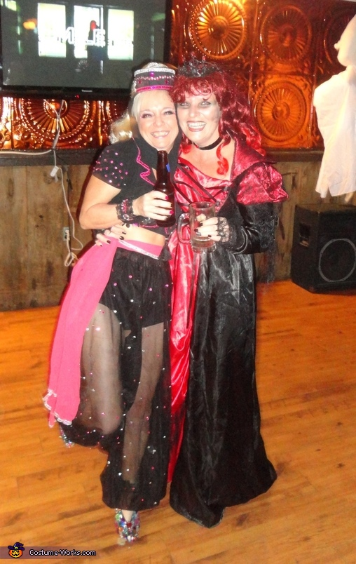 My friend and me showing full costume, I Dream of Jeannie Costume