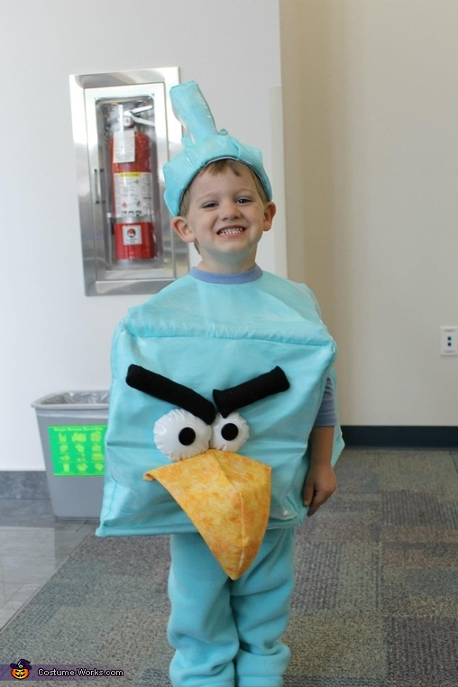 Happy boy!, Angry Birds Ice Bird Costume