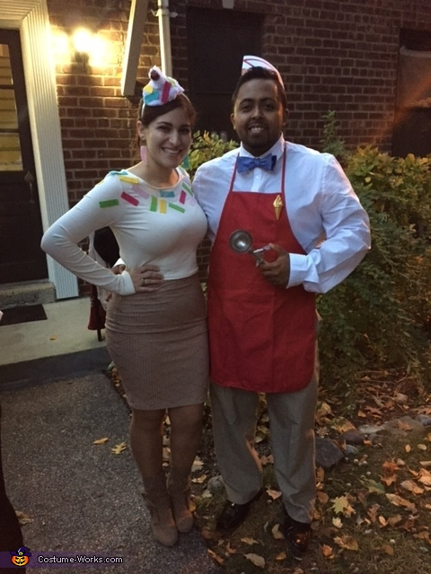 Ice Cream Cone and Ice Cream Man Costume