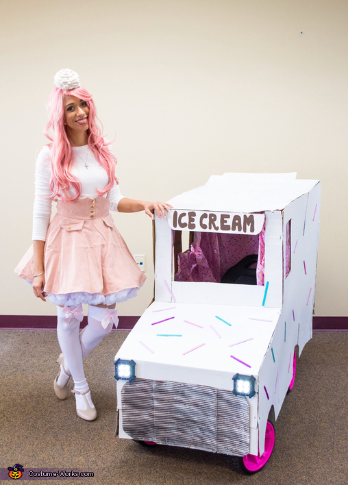 Ice Cream Girl with Ice Cream Truck Costume