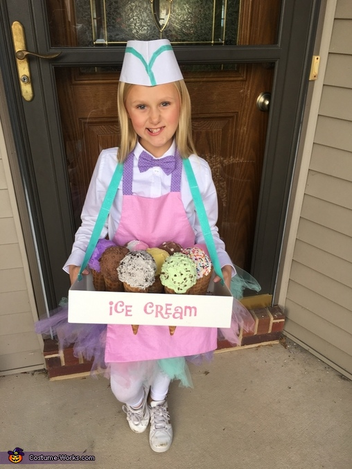 Ice Cream Vendor Homemade Costume