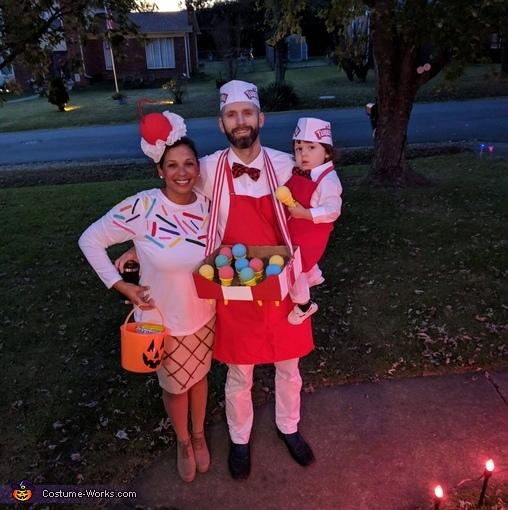 Ice Scream Family Homemade Costume