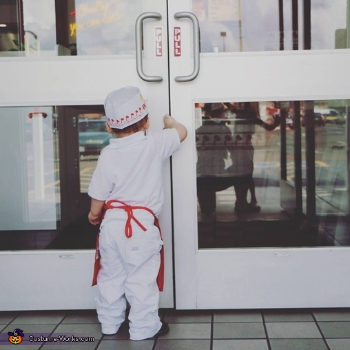 In-N-Out Burger Employee Baby Homemade Costume