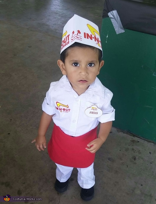 In-N-Out Worker Baby Homemade Costume