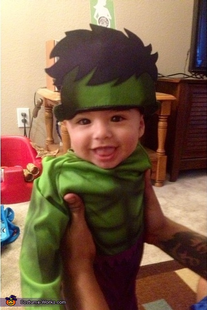 Incredibly Cute Hulk Baby Costume