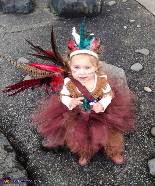 Indian Princess Baby Homemade Costume