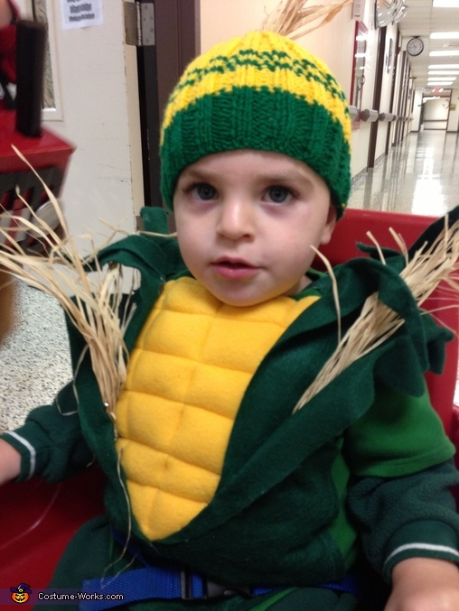 Homemade Corn Baby Costume