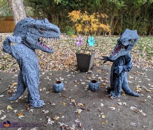 Indominus Rex and Velociraptor Costume