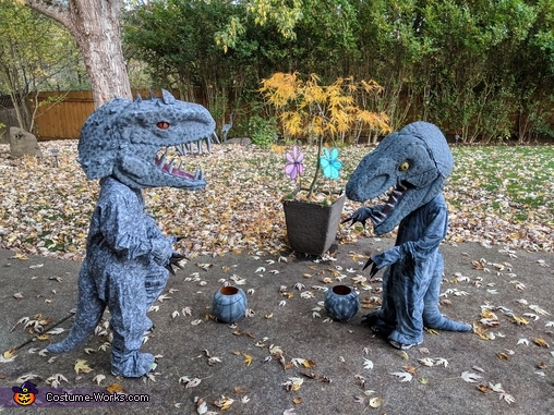 Indominus Rex and Velociraptor Homemade Costume