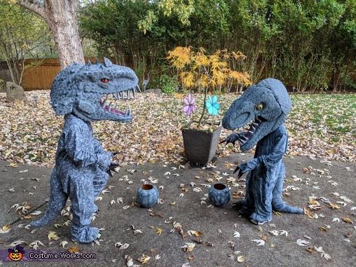 Indominus Rex and Velociraptor Homemade Costume
