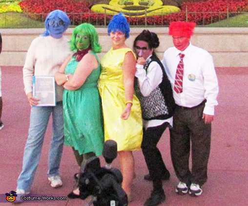 Group shot at the Magic Kingdom, Inside Out Costume