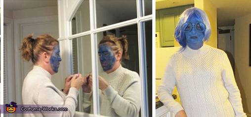 Sadness getting made up, Inside Out Costume
